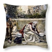 Archimedes  Throw Pillow by Granger