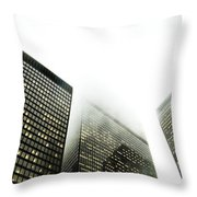 Architectural Photographs Of Business Throw Pillow by David Wile