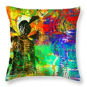 At The Carnival Throw Pillow by Angela L Walker