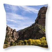 Autumn In Glenwood Canyon - Colorado Throw Pillow by Brian Harig