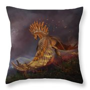 Back From The Nightmare Throw Pillow by Kate Black