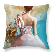 Ballerina's Back Throw Pillow by Corporate Art Task Force