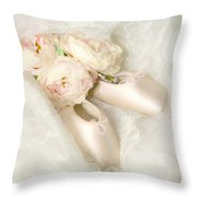 Ballet Shoes Throw Pillow by Theresa Tahara