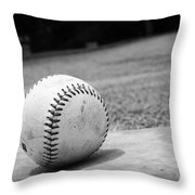 Baseball Throw Pillow by Kelly Hazel