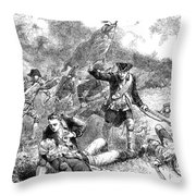 Battle Of Bunker Hill, 1775 Throw Pillow by Granger