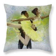 Belly Dancers Throw Pillow by Corporate Art Task Force