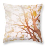 Beneath A Tree  14 5284  Diptych  Set 1 Of 2 Throw Pillow by Ulrich Schade