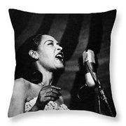 Billie Holiday (1915-1959) Throw Pillow by Granger