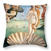 Birth of Venus Throw Pillow by Sandro Botticelli