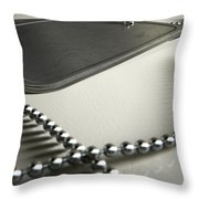 Blank Identity Dog Tags Dramatic Throw Pillow by Allan Swart