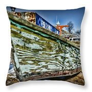 Boat Forever Dry Docked Throw Pillow by Paul Ward