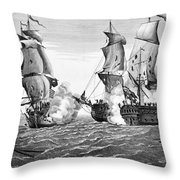 Bonhomme Richard, 1779 Throw Pillow by Granger