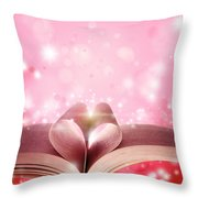 Book Love Throw Pillow by Les Cunliffe