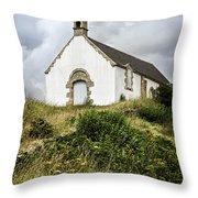 Breton Church Throw Pillow by Elena Elisseeva