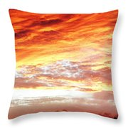 Bright Summer Sky Throw Pillow by Les Cunliffe