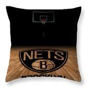 BROOKLYN NETS Throw Pillow by Joe Hamilton