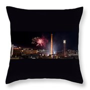 Bull Durham Fireworks Throw Pillow by Jh Photos