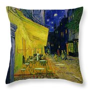 Cafe Terrace Arles Throw Pillow by Vincent van Gogh