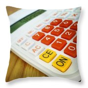 Calculator Throw Pillow by Les Cunliffe