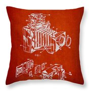 Camera Patent Drawing From 1963 Throw Pillow by Aged Pixel