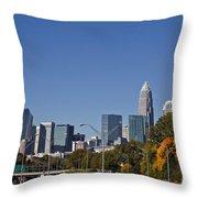Charlotte Skyline Throw Pillow by Jill Lang