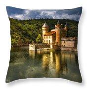 Chateau De La Roche Throw Pillow by Debra and Dave Vanderlaan