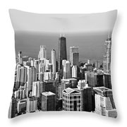 Chicago - That Famous Skyline Throw Pillow by Christine Till