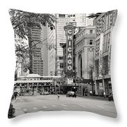 Chicago Theatre - French Baroque Out Of A Movie Throw Pillow by Christine Till