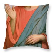 Christ Weeping Over Jerusalem Throw Pillow by Ary Scheffer