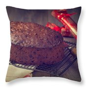 Christmas Cake Throw Pillow by Amanda And Christopher Elwell