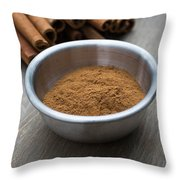 Cinnamon Spice Throw Pillow by Edward Fielding
