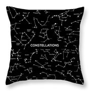 Constellations Throw Pillow by Taylan Soyturk