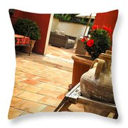 Courtyard Of A Villa Throw Pillow by Elena Elisseeva