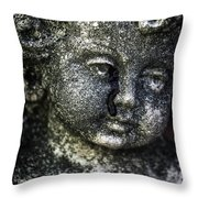 Crying Blood Throw Pillow by Joana Kruse