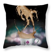 Cup Of Coffee Throw Pillow by Kate Black
