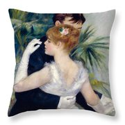 Dance In The City Throw Pillow by Pierre-Auguste Renoir