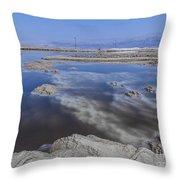 Dead Sea Landscape Throw Pillow by Dan Yeger