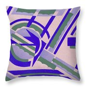 Design From Nouvelles Compositions Decoratives Throw Pillow by Serge Gladky