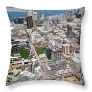 Downtown San Diego Throw Pillow by Bill Cobb