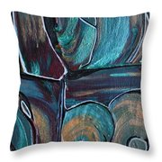 Earth Tones Throw Pillow by Donna Blackhall