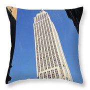Empire State Building Throw Pillow by Jon Neidert