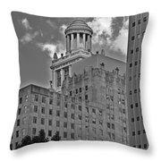 Esperson Buildings Houston TX Throw Pillow by Christine Till