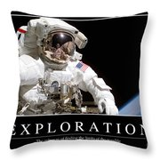 Exploration Inspirational Quote Throw Pillow by Stocktrek Images