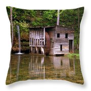 Falling Spring Mill  Throw Pillow by Marty Koch