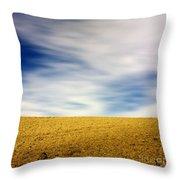 Field  Throw Pillow by Bernard Jaubert