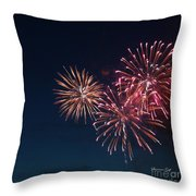 Fireworks Series Vi Throw Pillow by Suzanne Gaff