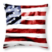 Flag Throw Pillow by Les Cunliffe
