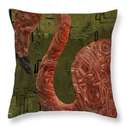 Flamingo Throw Pillow by Jack Zulli