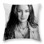 Foxy Throw Pillow by Andrew Read