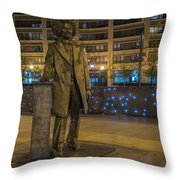 Frederick Douglass Throw Pillow by Theodore Jones